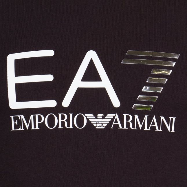 Mens Black Train Logo Series S/s Tee Shirt