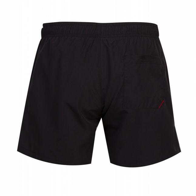 Mens Black Abas Logo Swim Shorts