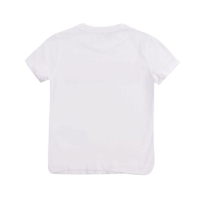 Boys White Colour Logo S/s T Shirt