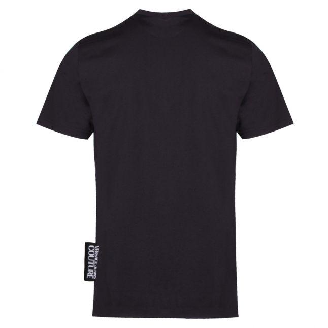 Mens Black Foil Couture Logo Slim Fit S/s T Shirt