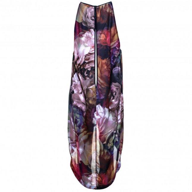 Womens Black Bbeta Shadow Floral Midi Cover Up