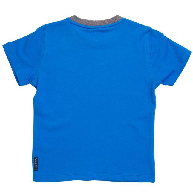 Boys Bright Blue Small Logo S/s Tee Shirt