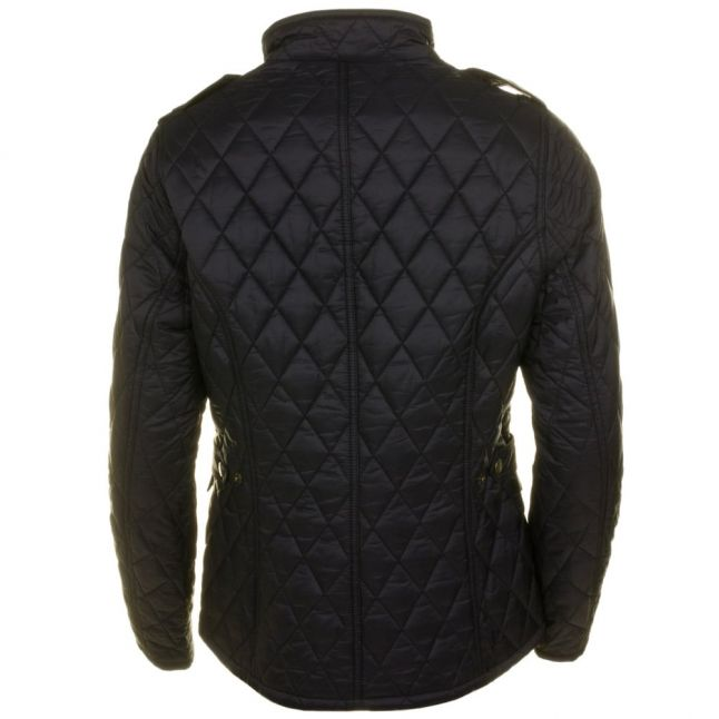 Womens Black Caster Quilted Jacket