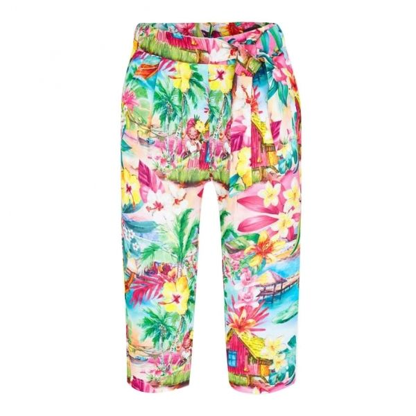 Girls Watermelon Tropical Print Trousers