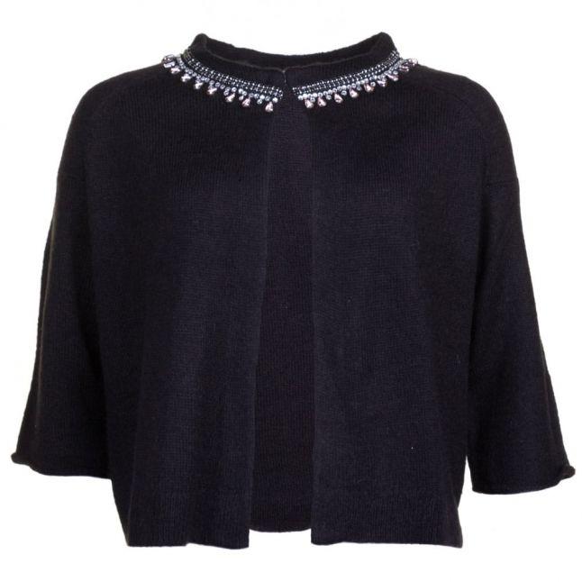 Womens Black Embellished Cardigan