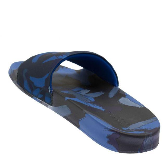 Mens Black Aglao Printed Slides