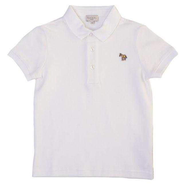 Boys White Luciano S/s Polo Shirt