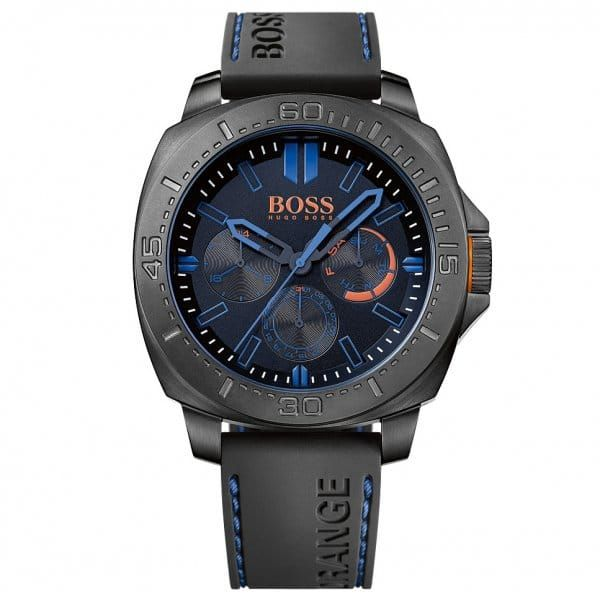Watches Mens Blue Dial Sao Paulo Silicone Strap Watch