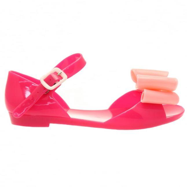 Girls Fuchsia Frappe Bow Sandals (29-32)