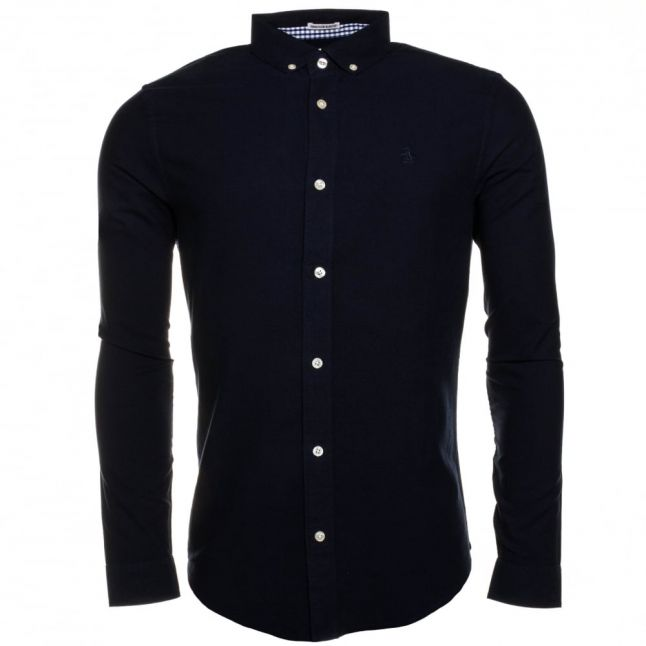 Mens Dark Sapphire Oxford Slim Fit L/s Shirt