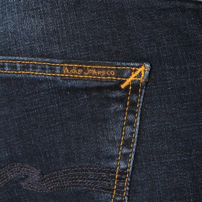 Mens Crosshatch Worn-In Wash Grim Tim Slim Fit Jeans