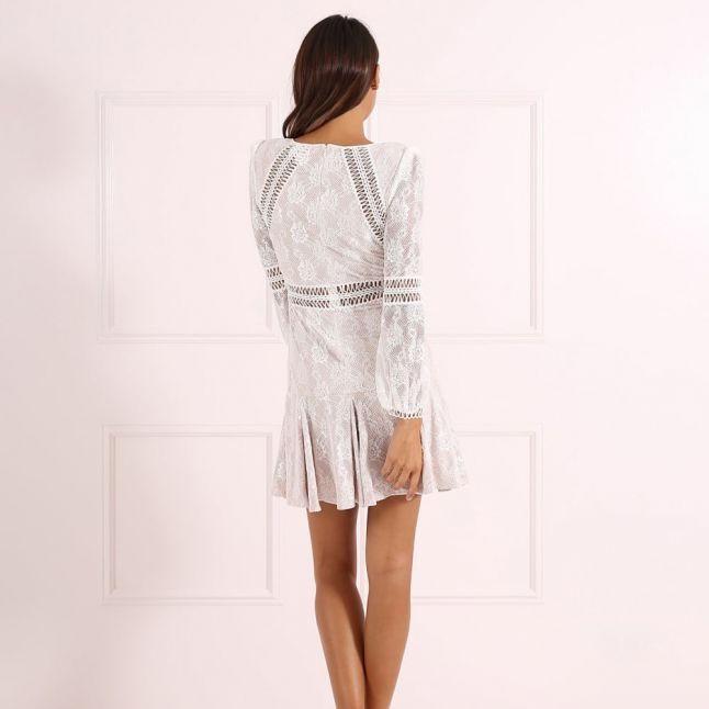 Womens Ivory Teri Dress