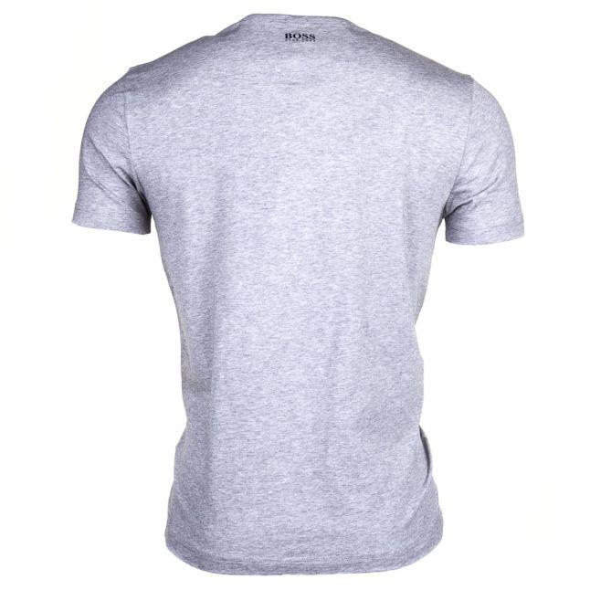 Mens Light Grey Tee 6 Logo S/s Tee Shirt