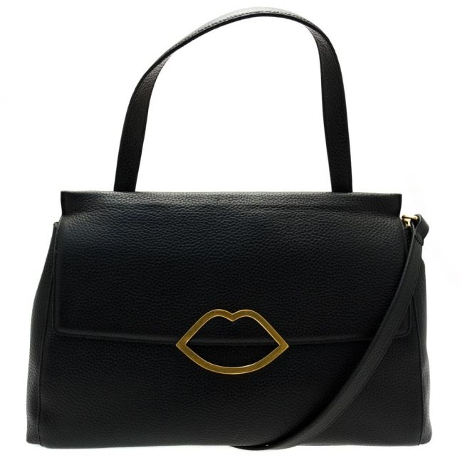 Womens Black Gertie Leather Large Bag