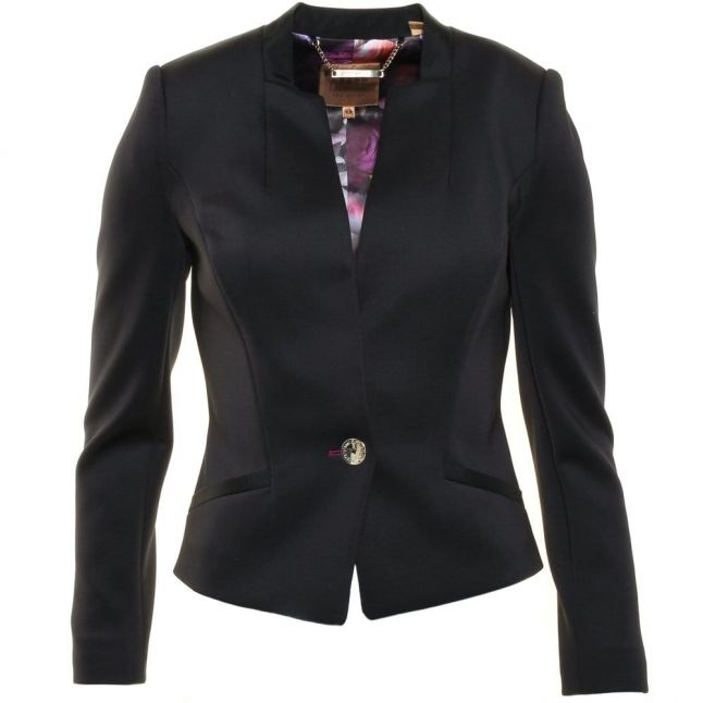 Womens Black Chaya Neoprene Suit Jacket
