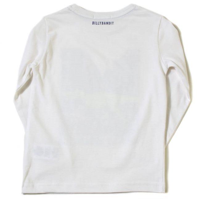 BillybanditBoysWhitePrintedCityDinosaurL/sTeeShirt