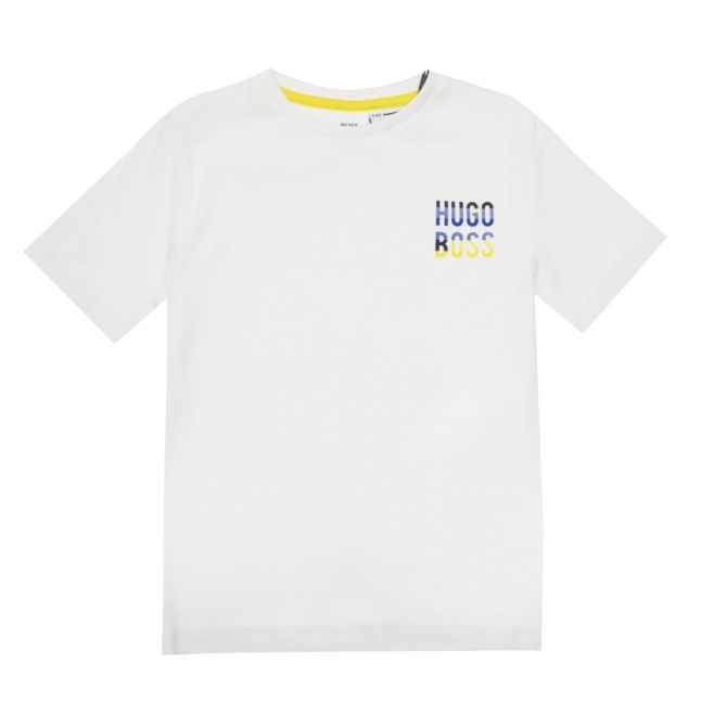 Boys White Colour Logo S/s T Shirt