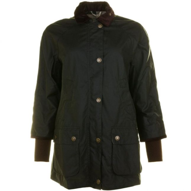 Heritage Womens Sage Rain Bedale Waxed Jacket
