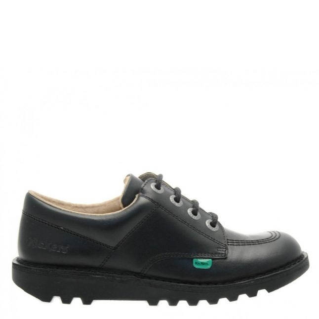 Youth Black Kick Lo Shoes (3-6)
