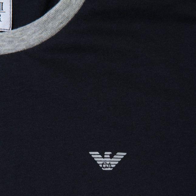 Boys Indigo Small Logo Crew S/s Tee Shirt (10yr+)