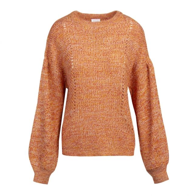 Womens Apricot Visee Balloon Sleeve Knitted Jumper