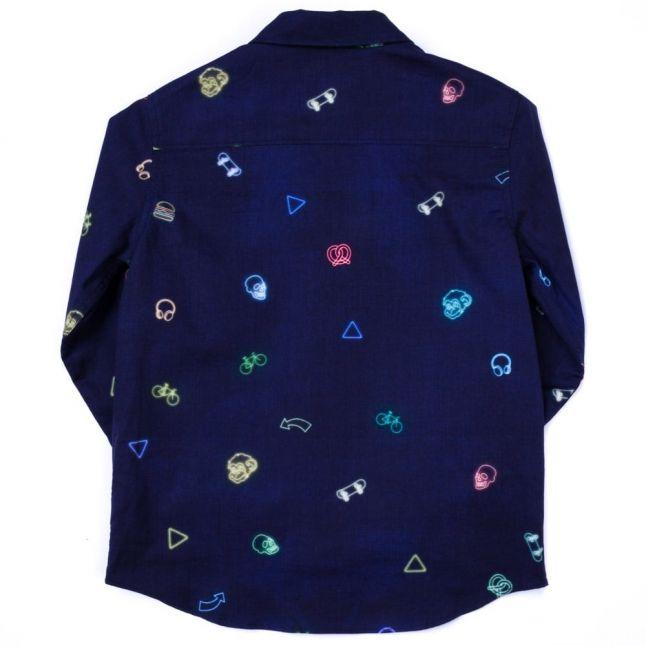 Boys Dark Navy Mercer L/s Shirt