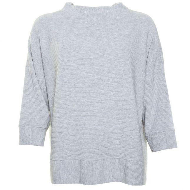 Womens Grey Sudan Marl 3/4 Sleeve Sweater