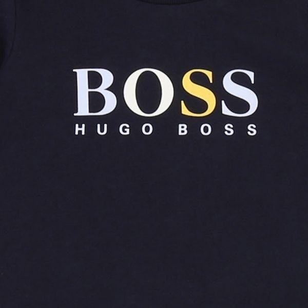 Baby Navy Multi Logo L/s T Shirt