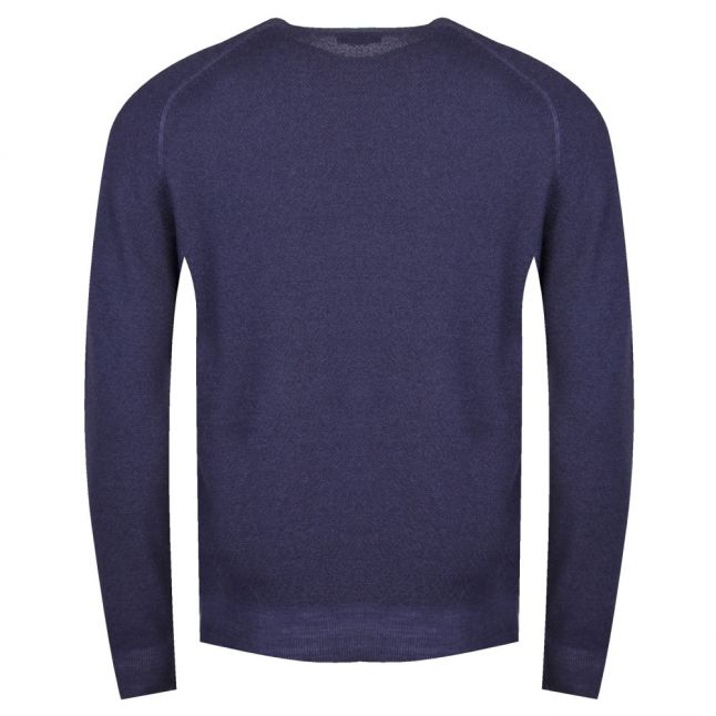 Casual Mens Navy Akusto Crew Neck Knitted Jumper