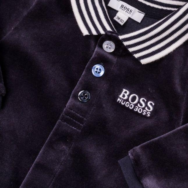 Boss Baby Navy Polo Shirt Babygrow