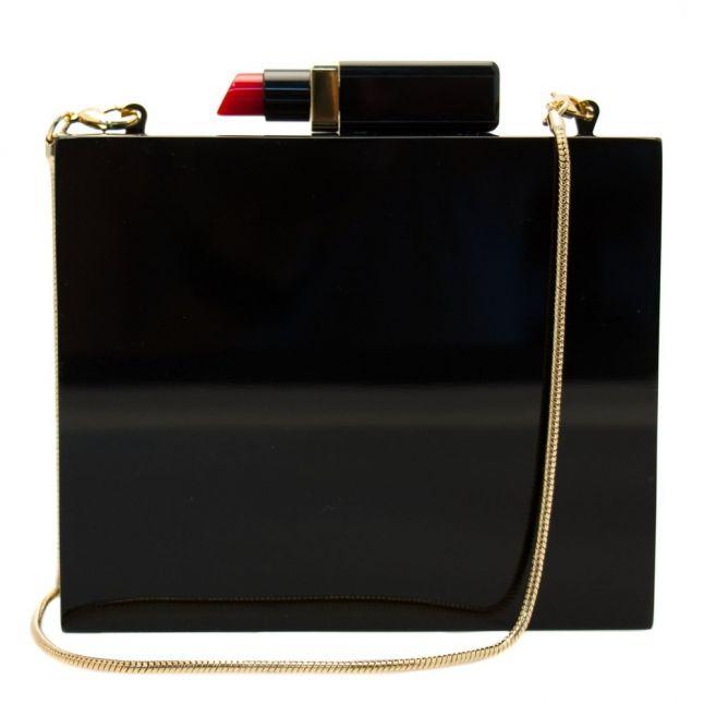 Womens Black Perspex Chloe Clutch Bag