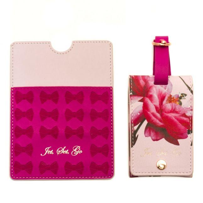 Citrus Bloom Luggage Tag & Passport Holder