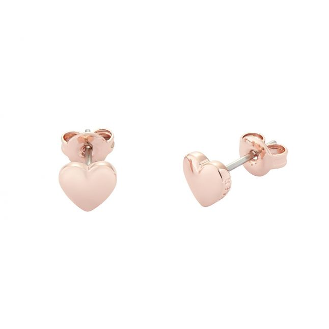 Womens Rose Gold Harly Heart Studs