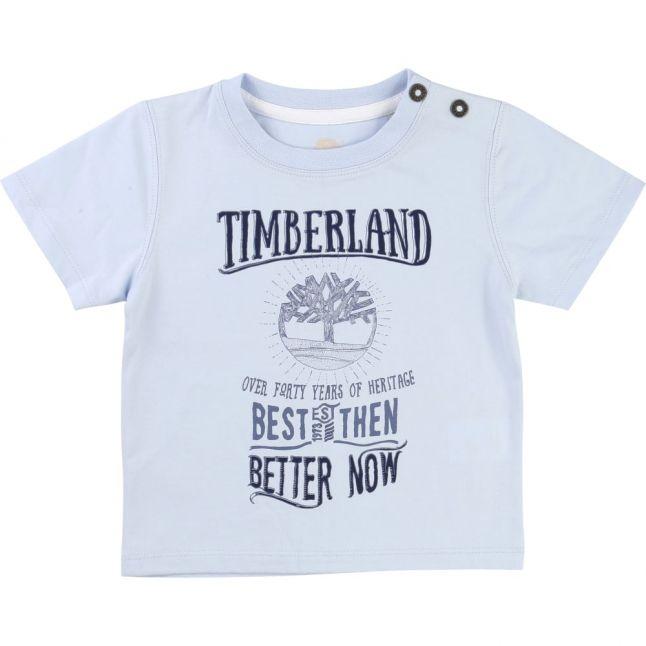 Boys Pale Blue Printed S/s Tee Shirt