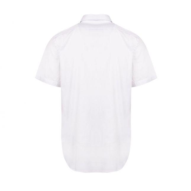 Mens White Zebra Tailored Fit S/s Shirt