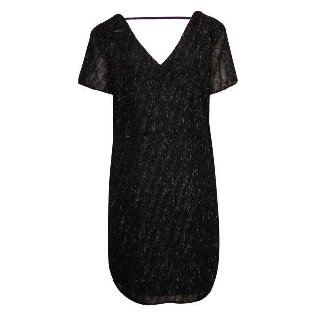 Womens Black Viloco Fringe Dress