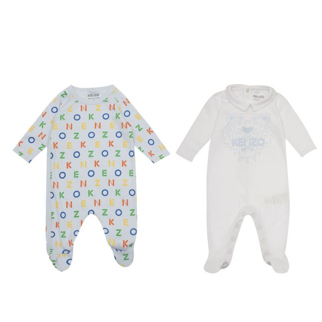 Baby Blue Tiger 2 Pack Babygrow Gift Set