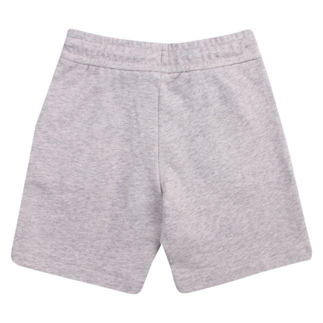 Boys Grey Melange Eagle Patch Sweat Shorts