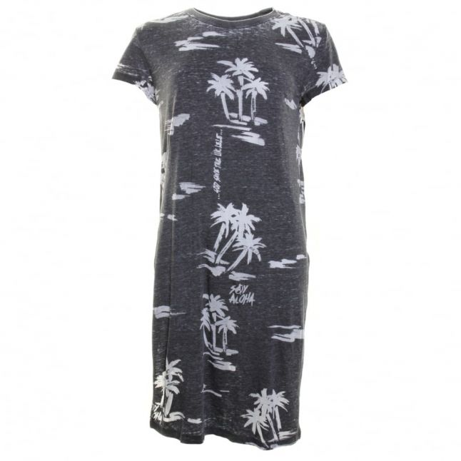 Womens Black T- Zitu- A Long Tee Shirt Dress