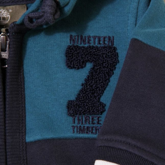 Baby Blue Number Hooded Sweat Top