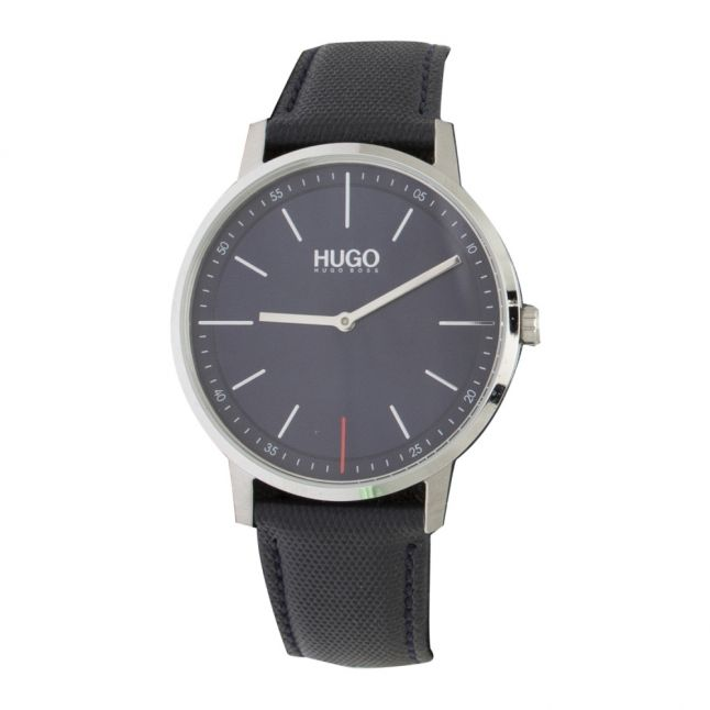 Mens Blue Exist Leather Watch