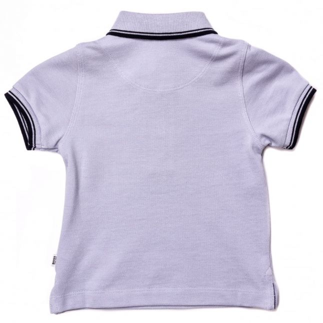 Baby Pale Blue Branded Tipped S/s Polo Shirt