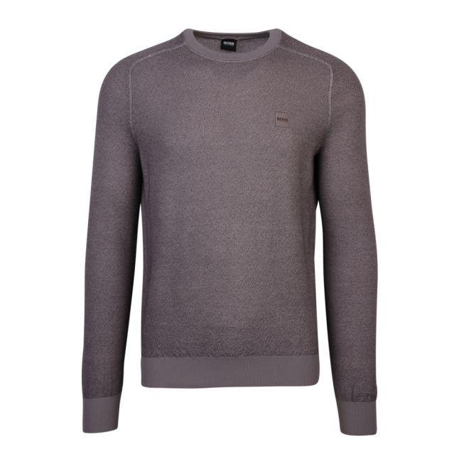 Casual Mens Medium Grey Akustor Crew Neck Knitted Top