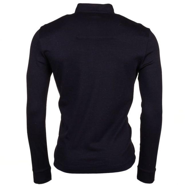 Mens Black C-Paderna L/s Polo Shirt