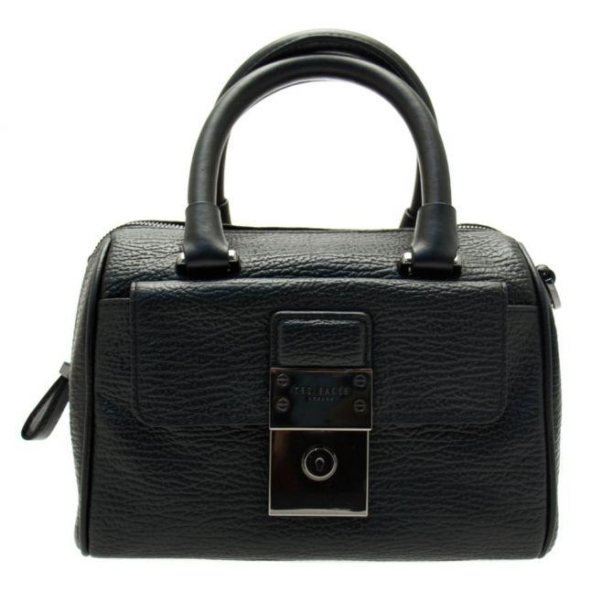 Womens Black Maira Luggage Lock Mini Duffel Bag