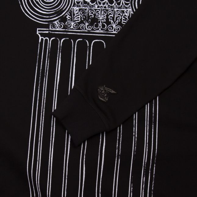 Anglomania Mens Black Pillar Print Raglan Sweat Top