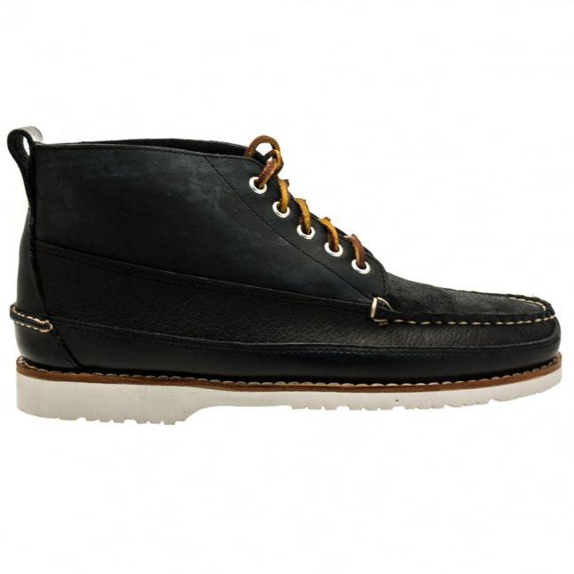 Mens Navy Camp Moc II Ranger Mix Boots