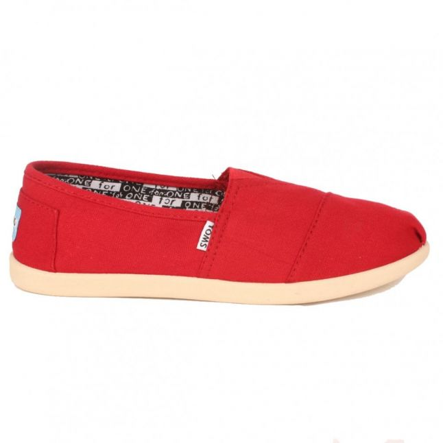 Youth Red Canvas Classic (11-5)