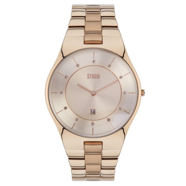 Womens Rose Gold Crysty Watch