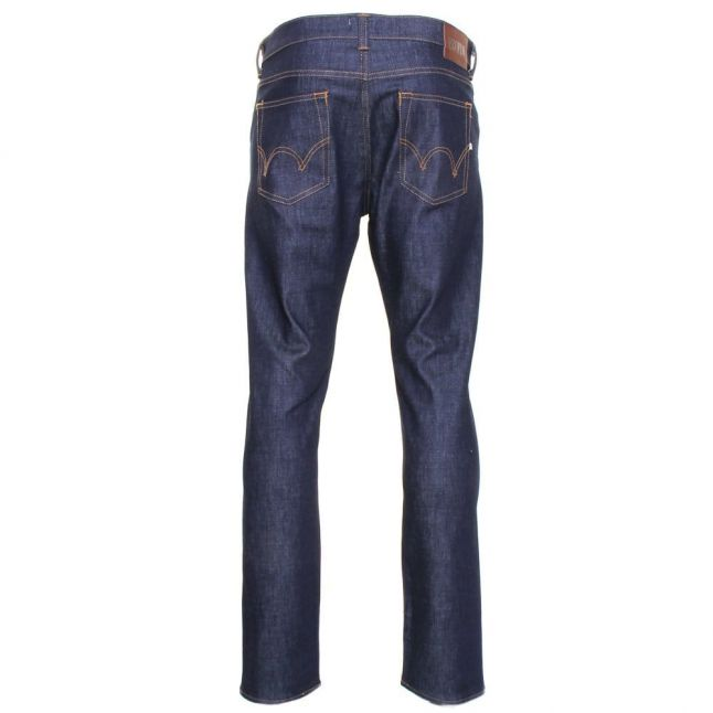 Mens 12.5oz Blue Unwashed Rinse ED-80 Slim Tapered Fit Jeans